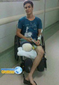 Machadinho: Campanha vem sendo realizada para arrecadar donativos a jovem vítima de um grave acidente trânsito