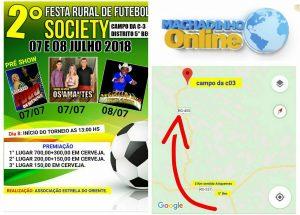 Machadinho: Associação Estrela do Oriente promove a 2° Festa Rural de Futebol Society no Campo da C-03 dias 7 e 8 de Julho