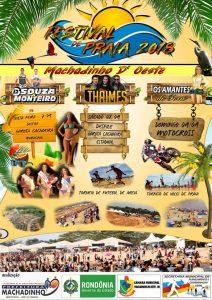 Machadinho: Vem aí de 07 à 09 de Setembro de 2018, o tradicional festival de praia Garota Cachoeira