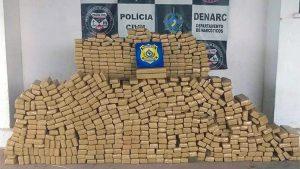 Porto Velho – Em operação conjunto, PRF e Denarc da polícia civil apreendem 450 quilos de maconha