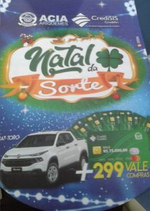 Machadinho: Compre qualquer produto na Gráfica Impacto e participe do Natal da Sorte que  sorteará uma Fiat Toro