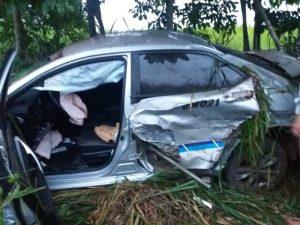 Taxista de Ouro Preto do Oeste colide com carreta bitrem na BR-364 entre Jaru e Ariquemes