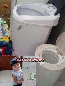 Rolim de Moura – Criança de dois anos morre após se afogar em máquina de lavar roupas de sua residência