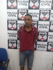 Machadinho: Polícia Civil prende acusado de roubos e traficante de drogas no bairro Bom Futuro