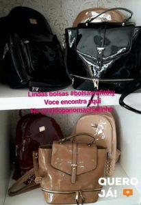 Machadinho: Compre as mais elegantes bolsas femininas no Rei do Pano parceladas em até 6x no crediário da loja