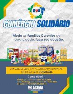 Machadinho: ACEMA promove a campanha Comércio Solidário