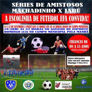 Machadinho: A escolinha de futebol EFA promoverá uma série de amistosos