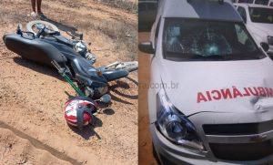 Vale do Anari: Acidente envolvendo motocicleta e ambulância deixa ferido
