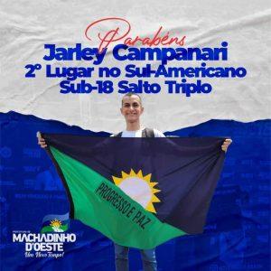 Machadinho: Jovem promessa do atletismo conquista o 2º lugar no Sul-Americano realizado no Paraguai